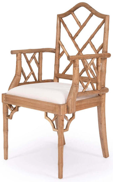 Rutherford   Hamptons Wooden Dining Chairs With Arms