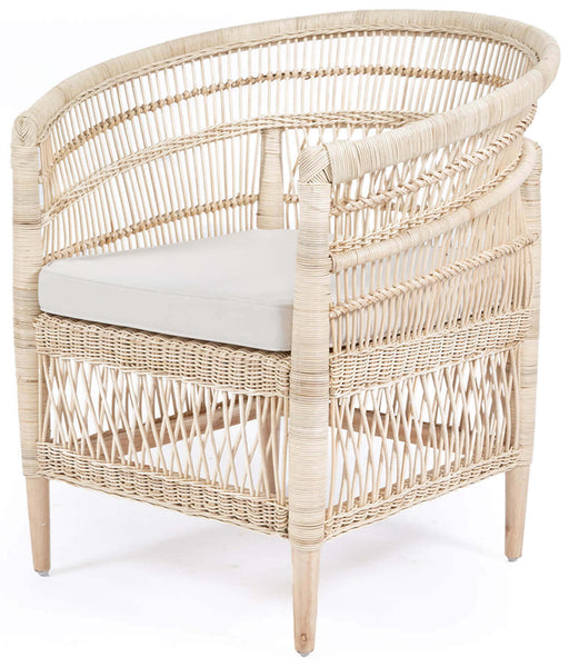 Seabreeze   Rattan Dining Chair With Arms