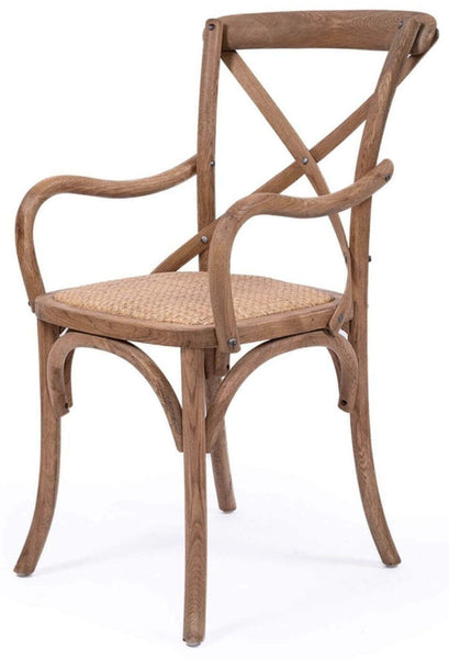 Virginia | Natural Wooden Dining Chair With Arms