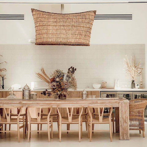 Wicker Cane Rattan Dining Chairs