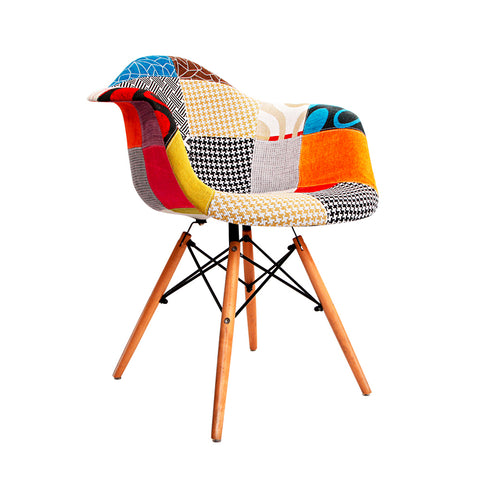 Marlo Version 1   Multi Coloured Eames Moulded Plastic Armchair
