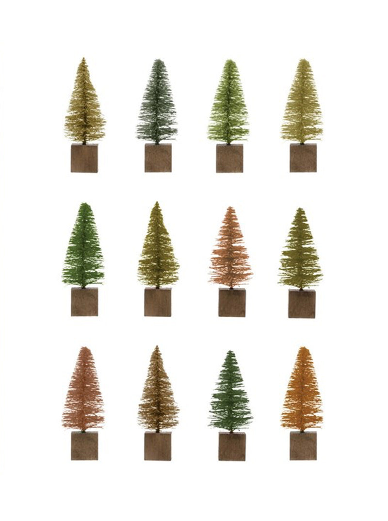 Bottle Brush Trees, Set of 12