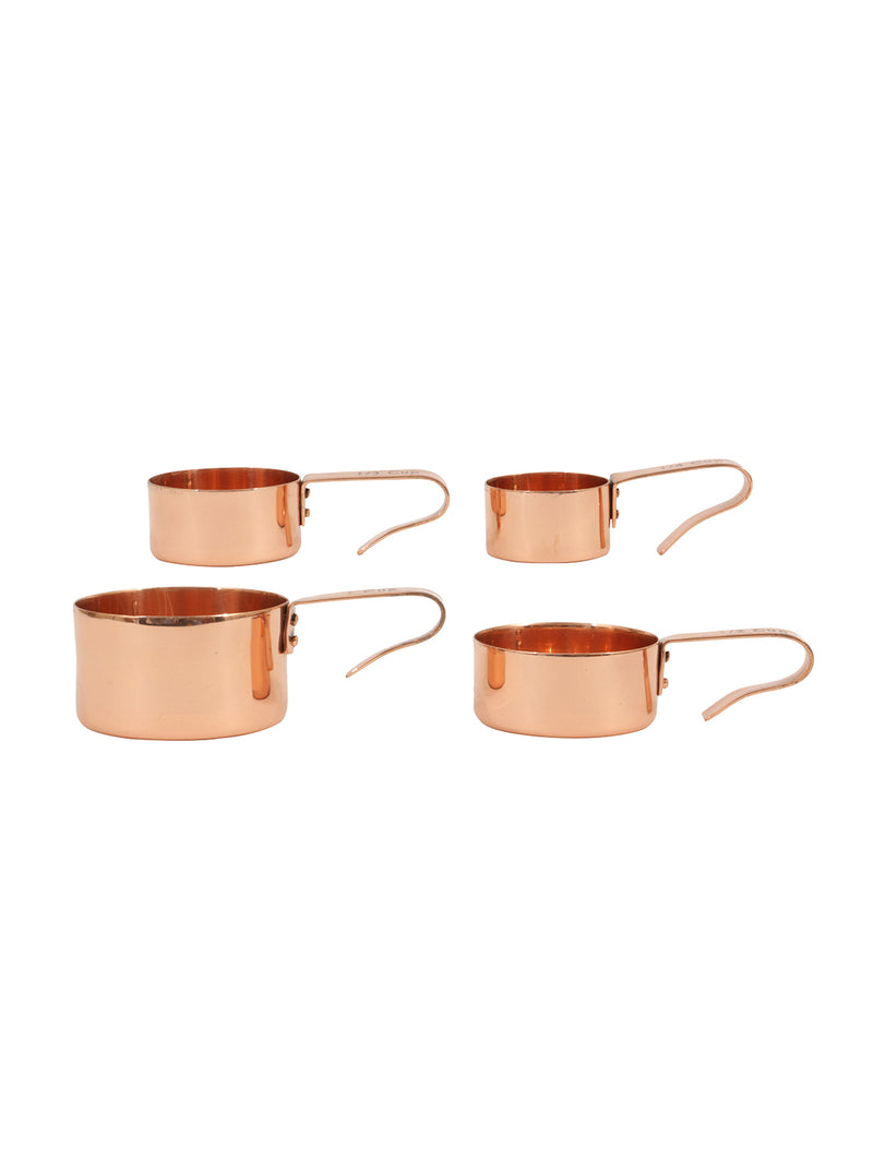 Copper Measuring Cups Set of 4