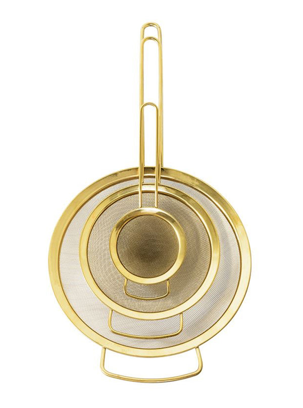 Gold Strainers, Set of 3