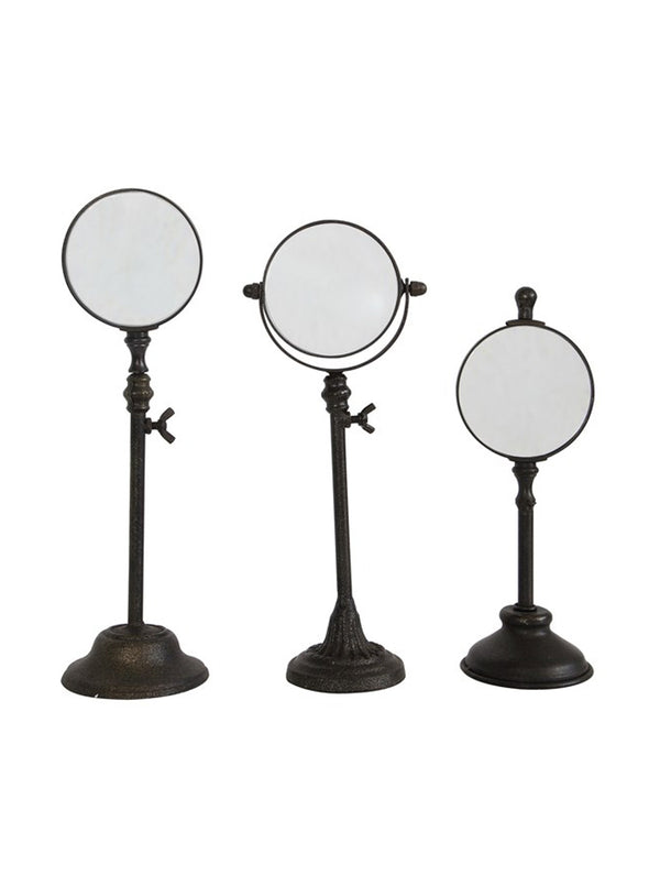 Magnifying Glass Stands, Set of 3