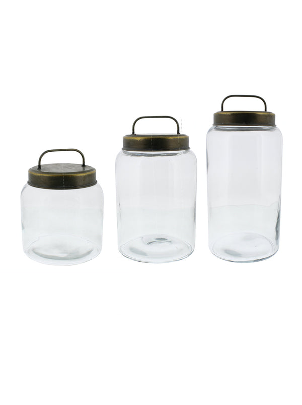 Metal Lidded Canisters