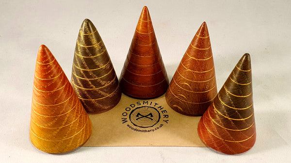 Christmas tree set (x5, oak) - Woodsmithery - WoodsmitheryShop