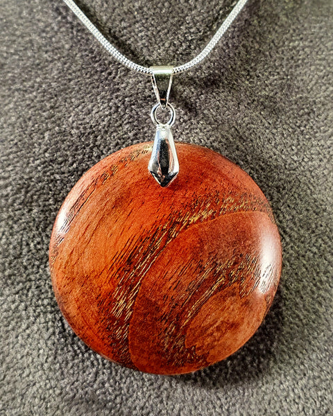Pendant necklace (ash) - WoodsmitheryShop