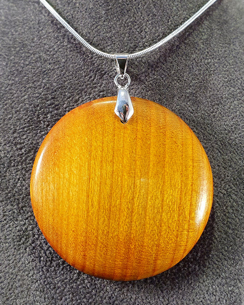 Pendant necklace (cherry) - WoodsmitheryShop