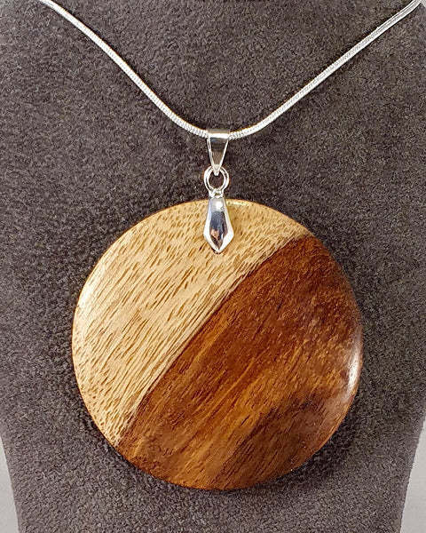 Pendant necklace (Indian Rosewood/sheesham) - Woodsmithery - WoodsmitheryShop