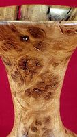 Vase and flowers (burr oak/sweet chestnut) - WoodsmitheryShop