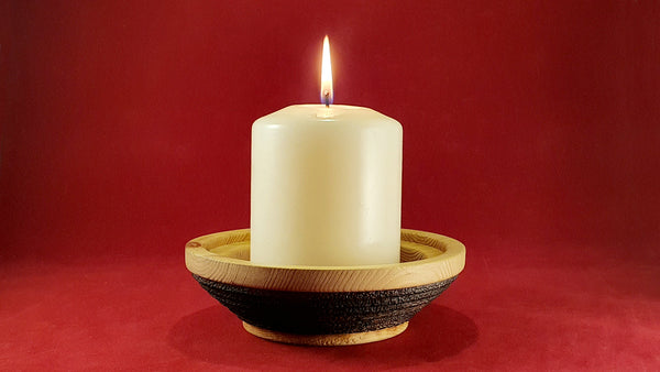 Candle holder (pine) - Woodsmithery - WoodsmitheryShop