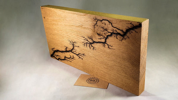 Pyrography panel (oak) - Woodsmithery - WoodsmitheryShop