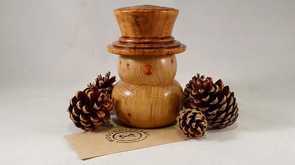 Snowman (oak and mango) - Woodsmithery - WoodsmitheryShop