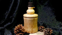 Snowman pot (oak and spalted beech) - Woodsmithery - WoodsmitheryShop