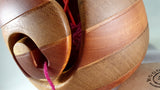 Yarn bowl (sapele and idigbo) - Woodsmithery - WoodsmitheryShop