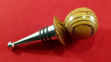 Bottle stopper (zebrano) - Woodsmithery - WoodsmitheryShop