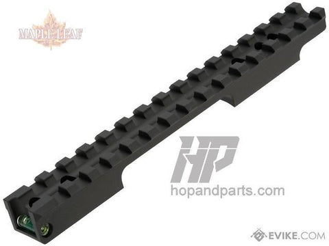 Maple Leaf CNC Scope Rail with Bubble Level (Green)