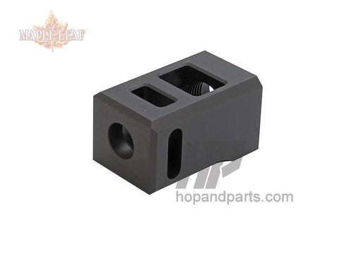 Maple Leaf (by ESD) Muzzle Suppressor (CCW 14mm) for WE Glock Series Black