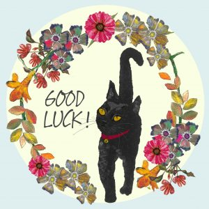 Tatty Co cards:  Good Luck Cat