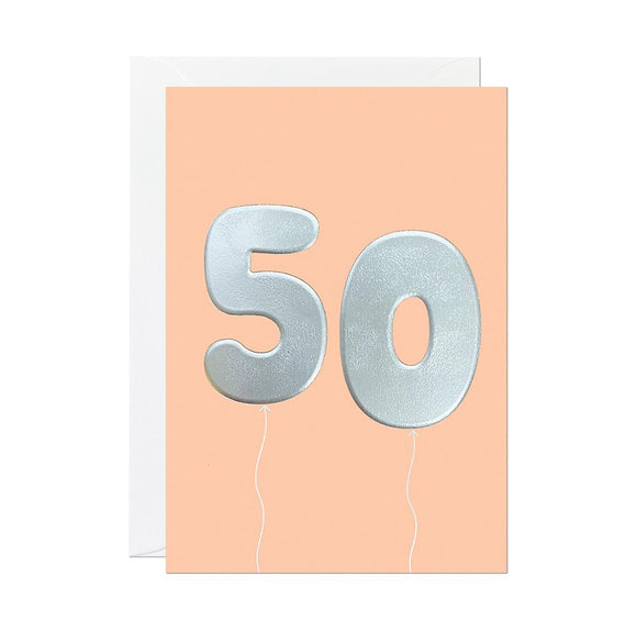 Age birthday balloon cards by Ricicle - 50 - Nice Things Ramsgate