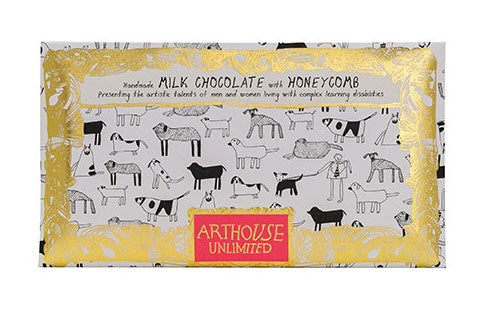 Dogs milk chocolate with honeycomb handmade by Arthouse Unlimited