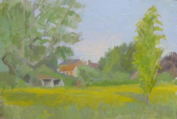 Oil painting by Suzanne Baker - Buttercup Meadow - Nice Things Ramsgate