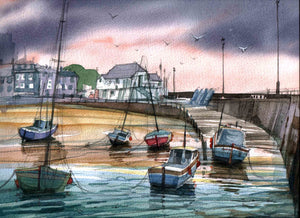 Original print by David Bailey : Broadstairs Harbour