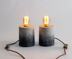 AVILA Concrete contemporary grey and black table lamps by Carlos Dominguez
