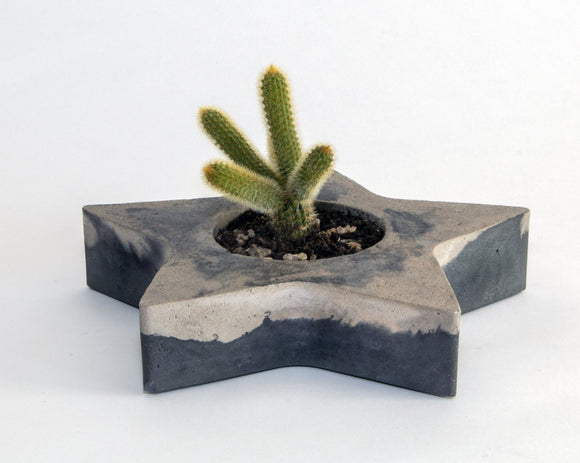 MILANO concrete contemporary grey and black planter by Carlos Dominguez