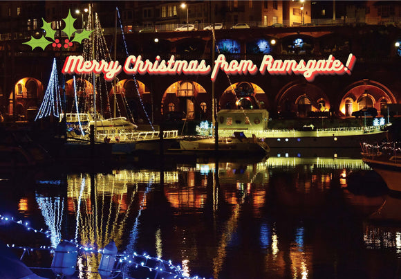 Christmas card Ramsgate Arches and Harbour Illuminations