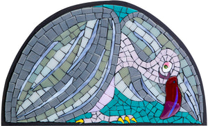 Mosaic picture by Martin Cheek 'A Culture Vulture'