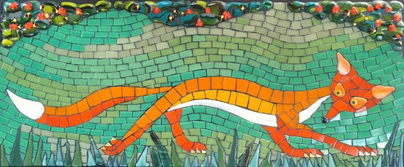 Mosaic picture by Martin Cheek - A Skulking Fox