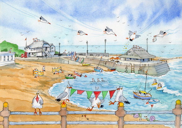 Original print by David Bailey : Broadstairs Funny Beach