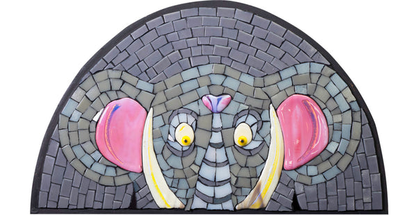 Mosaic picture by Martin Cheek 'An Elegant Elephant'