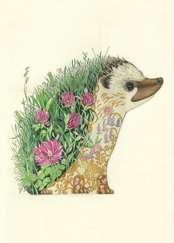 Hedgehog greeting card by DM Collection