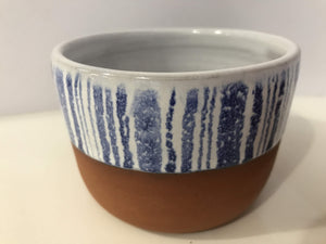 Shoreline Ceramics blue and white earthenware pots