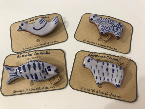 Shoreline Ceramics charming animal brooches