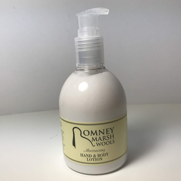 Naturally beautiful hand and body lotion by Romney Marsh Wools