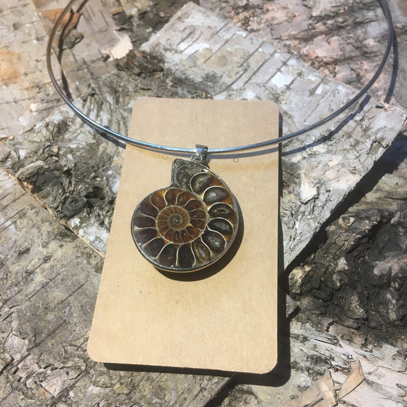 Ella Wood ammonite shell pendant 005 - Nice Things Ramsgate
