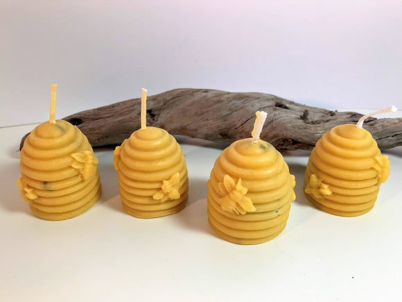 Catherine Evans natural beeswax bee candles