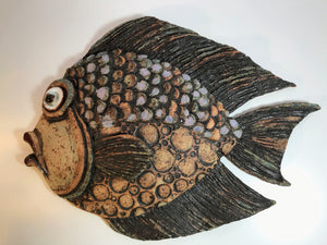 Mike Child pottery hanging fish