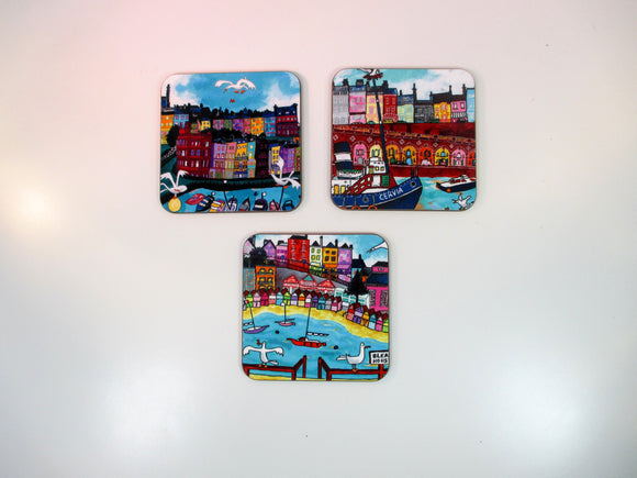 Ramsgate and Broadstairs coasters by artist David Weeks