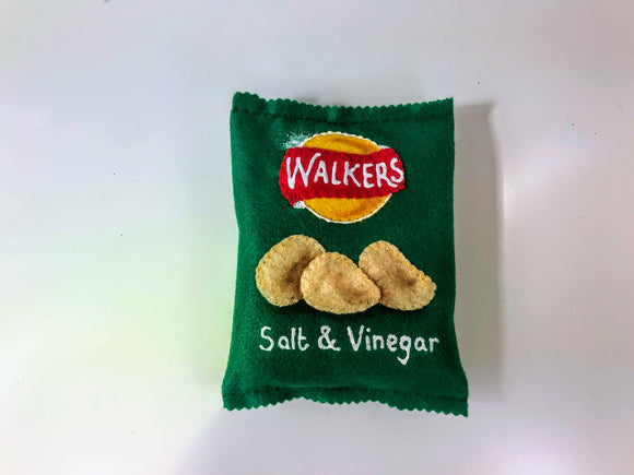 Store cupboard goods handmade in felt - Walkers Crisps