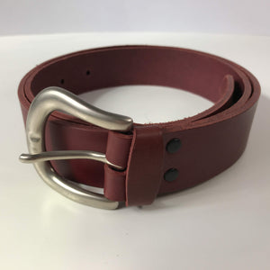 Handmade Leather Belts - red