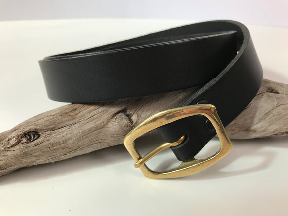 Handmade Leather Belts - black
