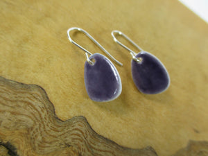 Dark blue porcelain earrings Katy Mai Coast Range