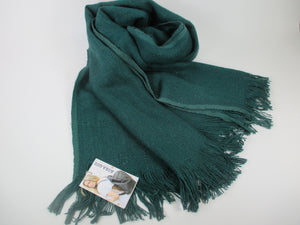 Beautiful large teal scarf wrap made with banana plant fibres
