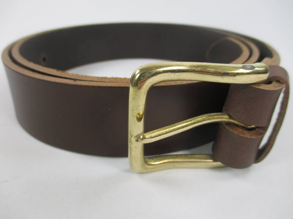 Handmade plain wide leather belts - brown, black and blue