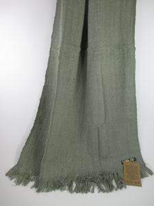Beautiful soft moss green scarf wrap made with banana plant fibres